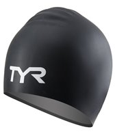 TYR Junior Long Hair Wrinkle Free Silicone Swim Cap