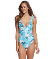 Seafolly Pacifico Deep V One Piece Swimsuit