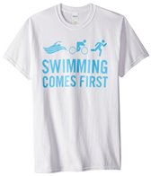 USMS Men's Swimming Comes First Crew Neck Tee