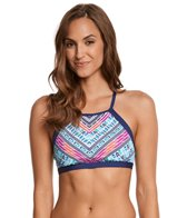 Jag Chevron Geo High Neck Bikini Top