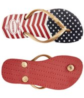 Havaianas Kid's Slim Chevron Stars And Stripes Flip Flop