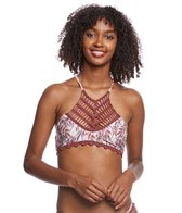 MINKPINK Feather Palm Halter Bikini Top