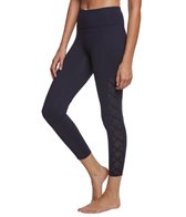 Betsey Johnson Performance Criss Cross Mesh Insert Yoga Capris