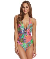 Trina Turk Tropic Escape V-Plunge One Piece Swimsuit