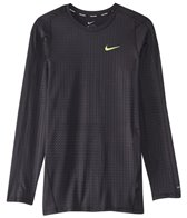 Nike Men's Embossed Fitted L/S Rashguard