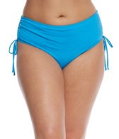 Sunsets Curve Plus Size French Blue High Hipster Bikini Bottom