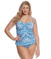 Sunsets Curve Plus Size Tangier Iconic Twist Tankini Top (D/DD Cup)