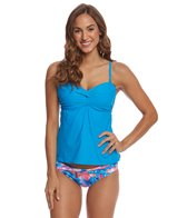 Sunsets French Blue Iconic Twist Tankini Top (D/DD Cup)