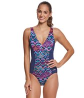 Dolfin Aquashape Women's Morocco Shirred One Piece Swimsuit