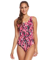 Dolfin Aquashape Women's Camo Chic Moderate Scoop Back One Piece Swimsuit