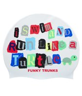 Funky Trunks Swim Turtle Run Silicone Swim Cap