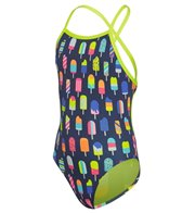 Funkita Girls' Frosty Fruits Tie Me Tight One Piece Swimsuit