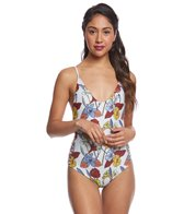 Stone Fox Swim Wild Flowers Hermosa One Piece Swimsuit