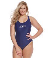 Dolfin Lifeguard Women's Plus Size Solid HP Back One Piece Swimsuit