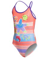 Turbo Girls' Underwater Sea Friends Swimsuit