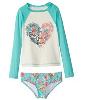 Billabong Girls' Blooming Beauty Rashguard Set (4-14)