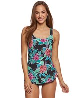 Gabar Jungle Flower Mastectomy Sarong One Piece Swimsuit