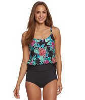 Gabar Jungle Flower Blouson Tankini Set