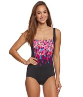 Gabar Dream Waterfall Square Neck One Piece Swimsuit