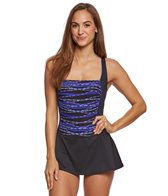 Gabar Beaded Bangle Stripe Swimdress