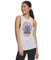 Spiritual Gangster Hamsa Night Rocker Yoga Tank Top