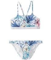 Roxy Girls' Blingbling Surf Crop Top Bikini Set (7-16)
