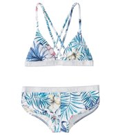 Roxy Blingbling Surf Fixed Triangle Bikini Set (7-16)