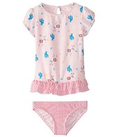 Roxy Girls' Cute Travel S/S Rashguard Set (3T-6)