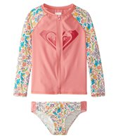 Roxy Girls' Caravane Beauty L/S Rashguard Set (3T-6)