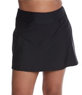 Sporti Plus Size Solid Swim Skort Bottom