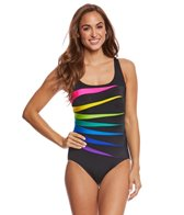 Longitude Color Block Fan One Piece Swimsuit