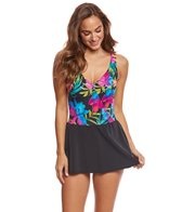 Longitude Sweet Garden Surplice Swimdress
