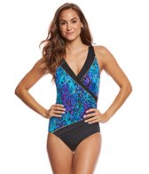 Longitude Basic Instinct Surplice One Piece Swimsuit