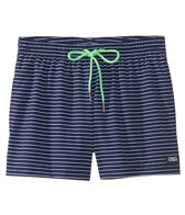 Funky Trunks Men's White Stripes Swim Trunk