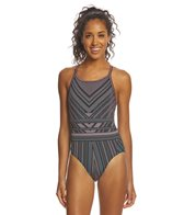 Funkita   Women's Stitched Up Diamond Back One Piece Swimsuit