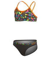 Funkita Girls' Night Swim Racerback Two Piece Bikini Set