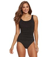 Penbrooke Krinkle Empire Mastectomy Chlorine Resistant One Piece Swimsuit