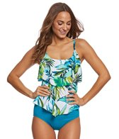 Maxine Palm Beach Tiered Tankini Top