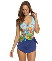 Maxine Floral Dreams Sarong One Piece Swimsuit