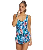 Maxine Palmetto Spa Chlorine Resistant Sarong One Piece Swimsuit