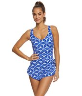 Maxine Prismatic Spa Chlorine Resistant Sarong One Piece Swimsuit
