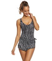 Maxine Waterfall Spa Chlorine Resistant Sarong One Piece Swimsuit