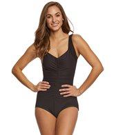 Maxine Solid Spa Chlorine Resistant Girl Leg One Piece Swimsuit