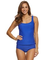 Maxine Solid Spa Chlorine Resistant Scoop Tankini Top