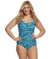 Maxine Plus Size Aqua Pura Girl Leg One Piece Swimsuit