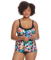 Maxine Plus Size Blossom Underwire Tankini Top