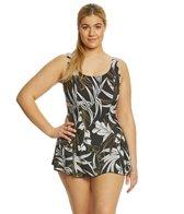Maxine Plus Size Palm Noveau Swimdress