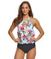Athena Tropical Trip Blouson One Piece Swimsuit