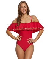 Athena Hey There Stud Cold Shoulder One Piece Swimsuit
