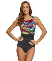 Reebok Mad Dash Women's  High Neck One Piece Swimsuit